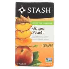 Load image into Gallery viewer, Stash Tea Ginger Peach Green W- Matcha - 18 Tea Bags - Case Of 6