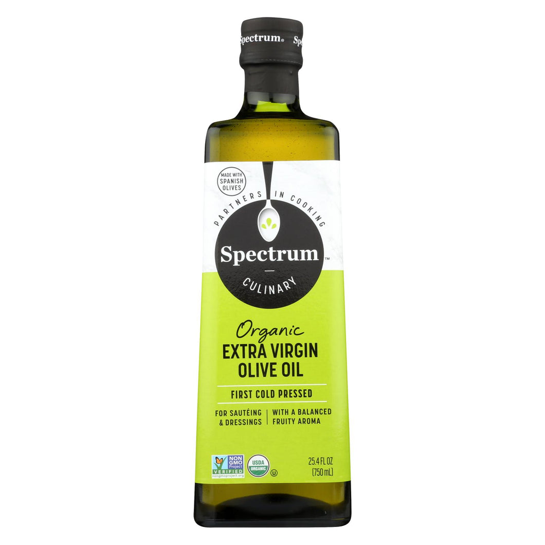 Spectrum Naturals Organic Unrefined Extra Virgin Olive Oil - 25.4 Fl Oz.