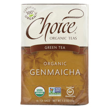 Load image into Gallery viewer, Choice Organic Teas Green Tea With Toasted Brown Rice - 16 Tea Bags - Case Of 6