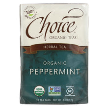 Load image into Gallery viewer, Choice Organic Teas Peppermint Herb Tea - 16 Tea Bags - Case Of 6