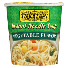 Load image into Gallery viewer, Tradition Instant Noodle Soup - Vegetable Flavor - Case Of 12 - 2.29 Oz.