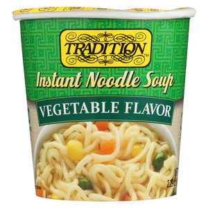 Tradition Instant Noodle Soup - Vegetable Flavor - Case Of 12 - 2.29 Oz.