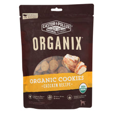Load image into Gallery viewer, Castor And Pollux Organic Dog Cookies - Chicken - Case Of 8 - 12 Oz.