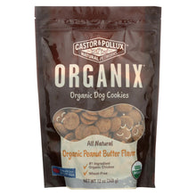 Load image into Gallery viewer, Castor And Pollux Organic Dog Cookies - Peanut Butter - Case Of 8 - 12 Oz.