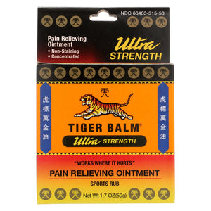 Tiger Balm Pain Relieving Ointment Ultra Strength - Non-staining - 1.7 Oz