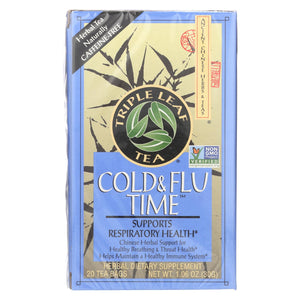 Triple Leaf Tea Cold And Flu Time - 20 Tea Bags - Case Of 6