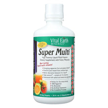 Load image into Gallery viewer, Vital Earth Minerals Super Multi Passion Fruit - 32 Fl Oz