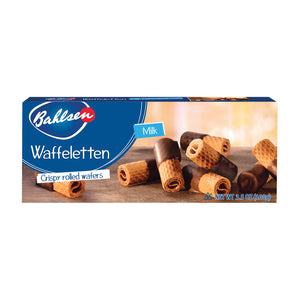 Bahlsen Waffeletten Milk Chocolate Cookies - Case Of 12 - 3.5 Oz.