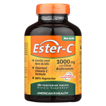 Load image into Gallery viewer, American Health - Ester-c With Citrus Bioflavonoids - 1000 Mg - 180 Vegetarian Tablets