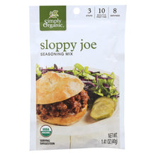 Load image into Gallery viewer, Simply Organic Seasoning Mix - Sloppy Joe - Case Of 12 - 1.41 Oz.