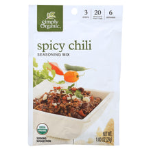 Load image into Gallery viewer, Simply Organic Spicy Chili Seasoning Mix - Case Of 12 - 1 Oz.