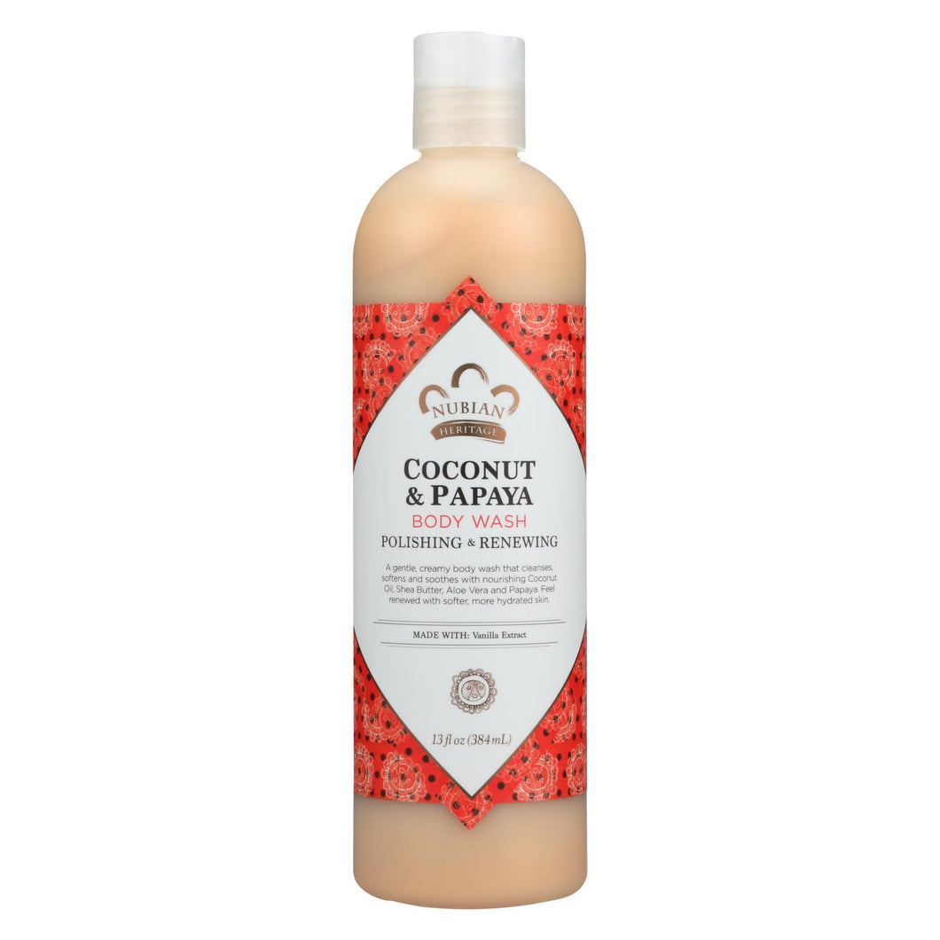Nubian Heritage Body Wash Coconut And Papaya - 13 Fl Oz