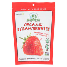 Load image into Gallery viewer, Natierra Organic Raw Freeze Dried - Strawberries - Case Of 12 - 1.2 Oz.