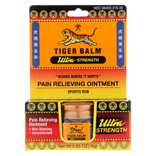 Load image into Gallery viewer, Tiger Balm Ultra Strength Pain Relieving Ointment - 0.63 Oz