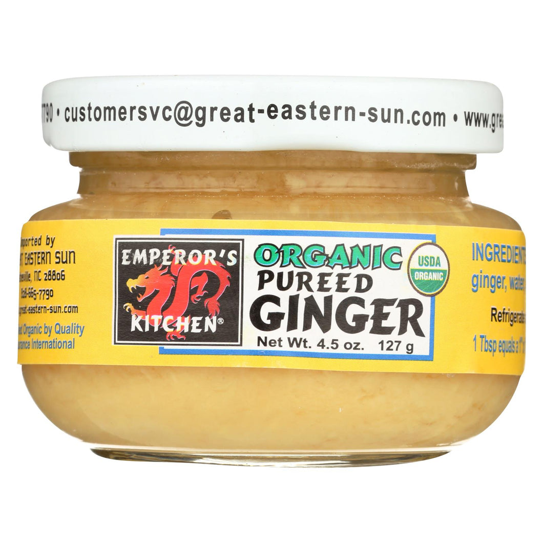 Emperor's Kitchen Organic Pureed Ginger - Case Of 12 - 4.5 Oz.