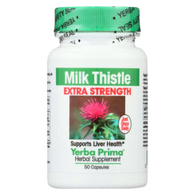 Load image into Gallery viewer, Yerba Prima Milk Thistle Extra Strength - 50 Capsules