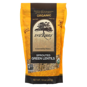 Truroots Organic Green Lentils - Sprouted - Case Of 6 - 10 Oz.