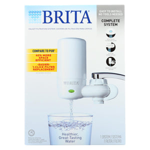 Brita - Advanced Faucet Filtration System - White - 1 Count
