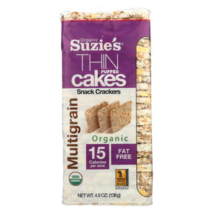 Suzie's Whole Grain Thin Cakes - Multigrain - Case Of 12 - 4.9 Oz.