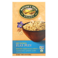 Load image into Gallery viewer, Nature's Path Hot Oatmeal - Flax Plus - Case Of 6 - 14 Oz.