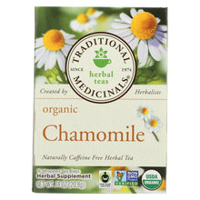 Load image into Gallery viewer, Traditional Medicinals Organic Chamomile Herbal Tea - Caffeine Free - Case Of 6 - 16 Bags