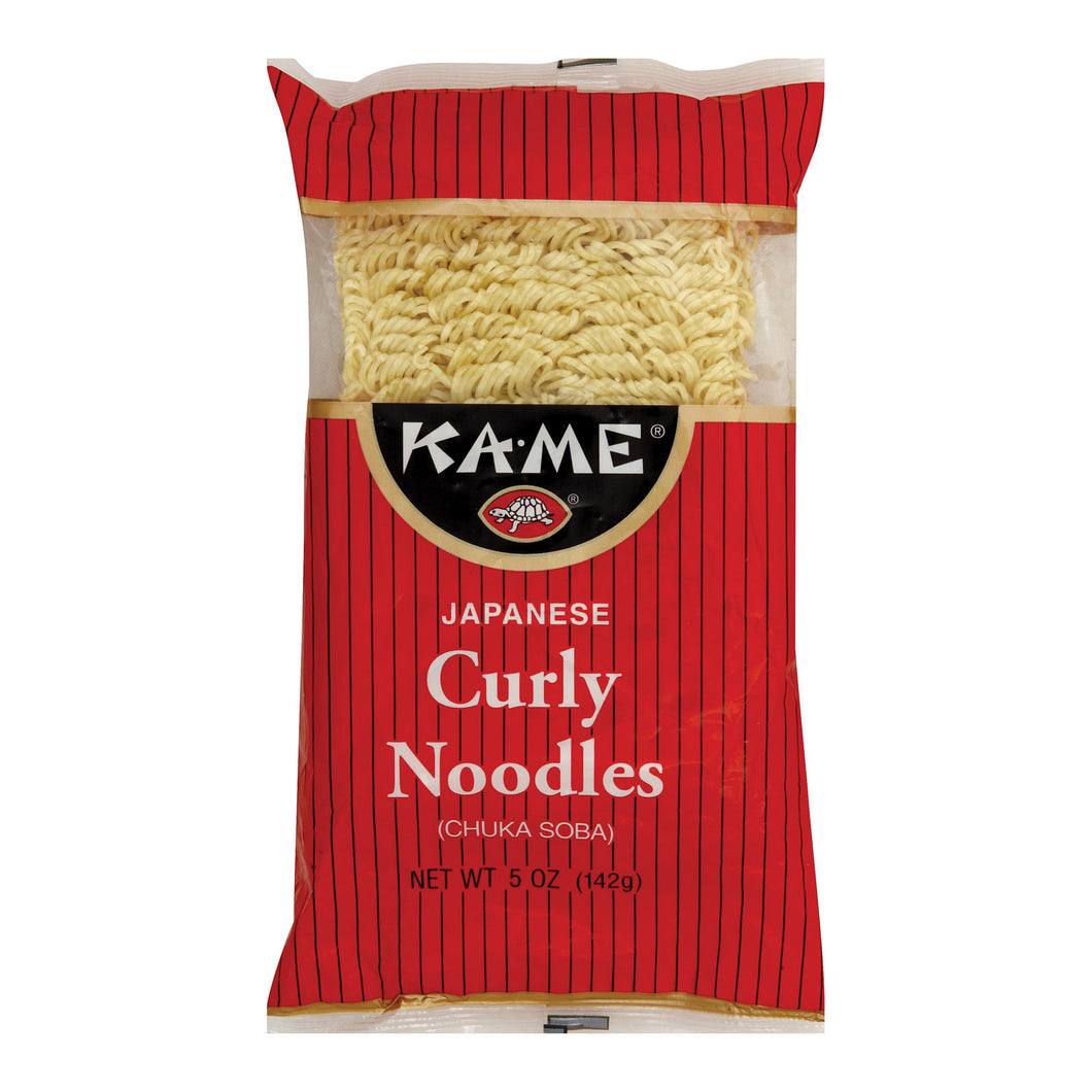 Ka'me Japanese Curly Noodles - Case Of 12 - 5 Oz.