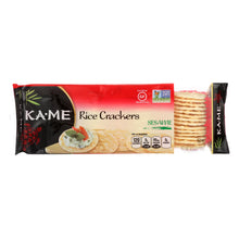 Load image into Gallery viewer, Ka'me Rice Crackers - Sesame - Case Of 12 - 3.5 Oz.