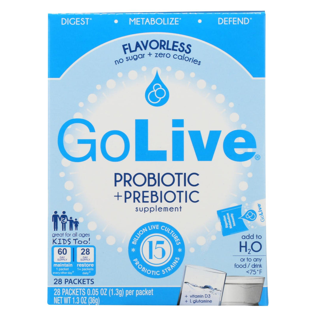 Golive Probiotic Products Probiotic And Prebiotic - Flavorless - 28 Packets - 1 Each