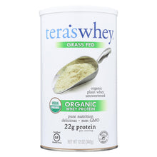 Load image into Gallery viewer, Teras Whey Protein Powder - Whey - Organic - Plain Unsweetened - 12 Oz