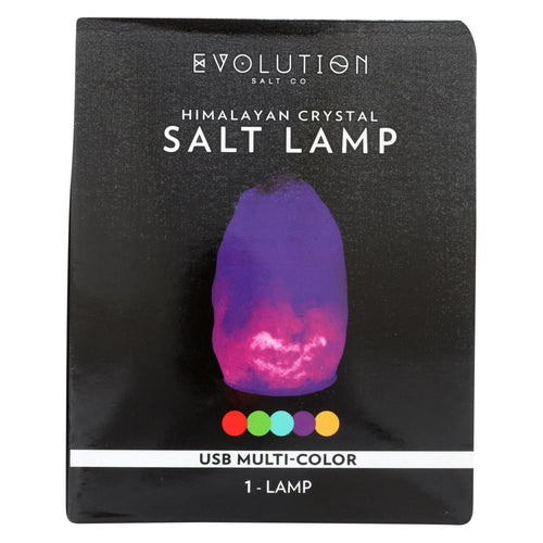 Evolution Salt Lamp - Usb - Natural - Multi Color Changing - 1 Count