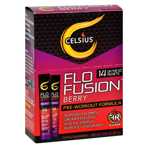 Celsius Flo Fusion - Powder Sticks - Berry - 14 Packets