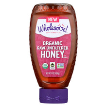 Load image into Gallery viewer, Wholesome Sweeteners Organic Raw - Unfiltered Honey - Case Of 6 - 16 Oz.