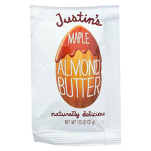 Load image into Gallery viewer, Justin's Nut Butter Squeeze Pack - Almond Butter - Maple - Case Of 10 - 1.15 Oz.