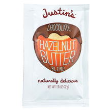 Load image into Gallery viewer, Justin's Nut Butter Squeeze Pack - Hazelnut Butter - Chocolate  - Case Of 10 - 1.15 Oz.
