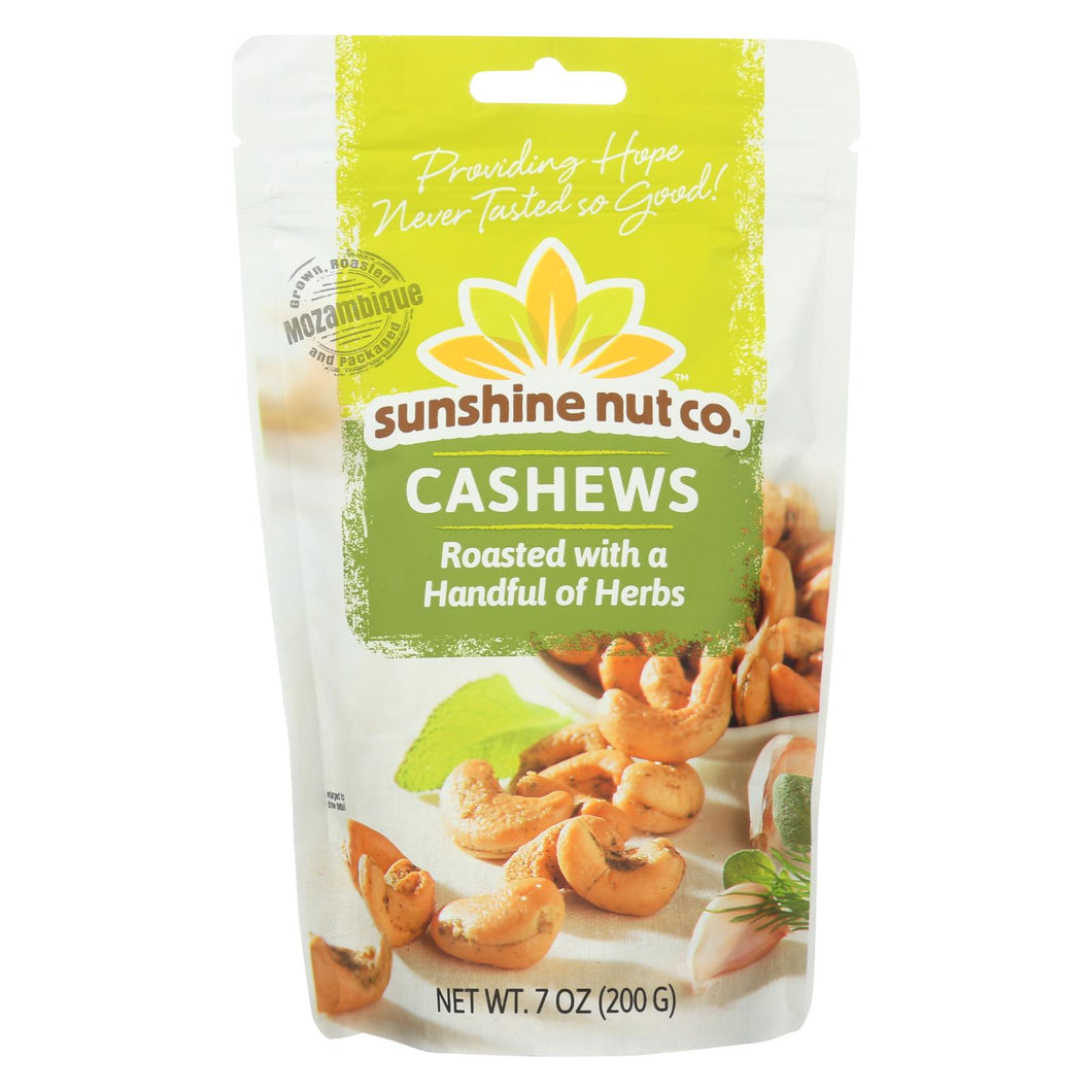 Sunshine Nut Company Cashews - Herbed - Roasted - Case Of 6 - 7 Oz