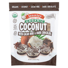 Load image into Gallery viewer, Jennies Coconut Bites - Organic - Cacao Chocolate - Case Of 6 - 5.25 Oz
