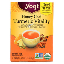 Load image into Gallery viewer, Yogi Tea - Organic - Honey Chai Turmeric - Case Of 6 - 16 Bag
