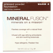Load image into Gallery viewer, Mineral Fusion - Pressed Powder Foundation - Warm 3 - 0.32 Oz.
