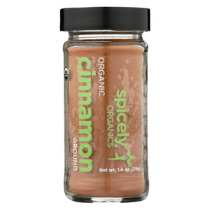 Spicely Organics - Organic Cinnamon - Ground - Case Of 3 - 1.4 Oz.