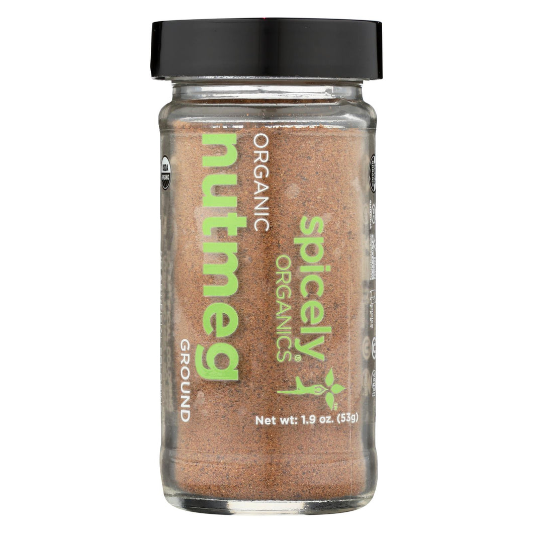 Spicely Organics - Organic Nutmeg - Ground - Case Of 3 - 1.9 Oz.