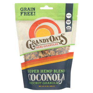 Grandy Oats Organic Granola - Super Hemp Blend Coconola - Case Of 6 - 9 Oz