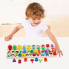 Sendida Alphabet Number Montessori Toys Wood Puzzles ABC Letters Educational Sorting Count Toy