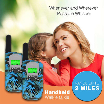 Walkie Talkies Kids Two Way Radio Wireless Interphone 22 Channel FRS GMRS Durable Toy