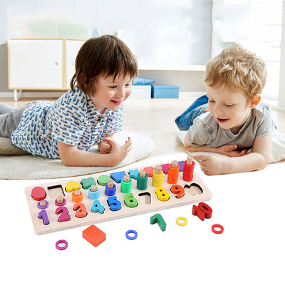 Sendida Shape Sorter Number and Math Stacking Blocks Toddlers Learning Toys