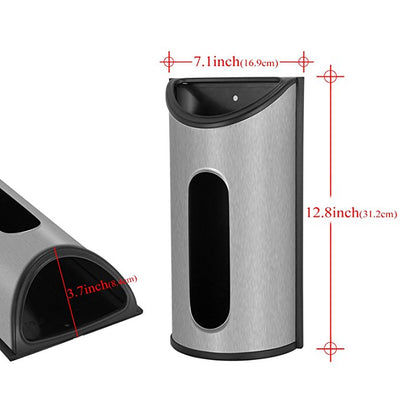 Stainless Steel Wall Mount Grocery Bag Dispenser