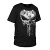 The Punisher Skull Ghost T-shirt Short Sleeve Black Color for Men