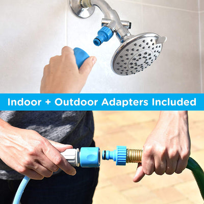 Pet Shower Sprayer and Scrubber blue color