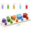 Wood Math Shape Puzzle Fishing Game Puzzles Toys 2 in 1