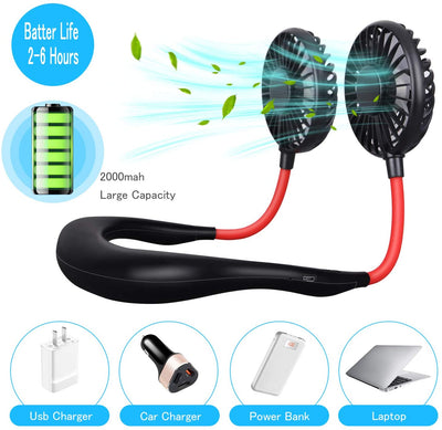 Portable USB Rechargeable Headphone Design LED Fan