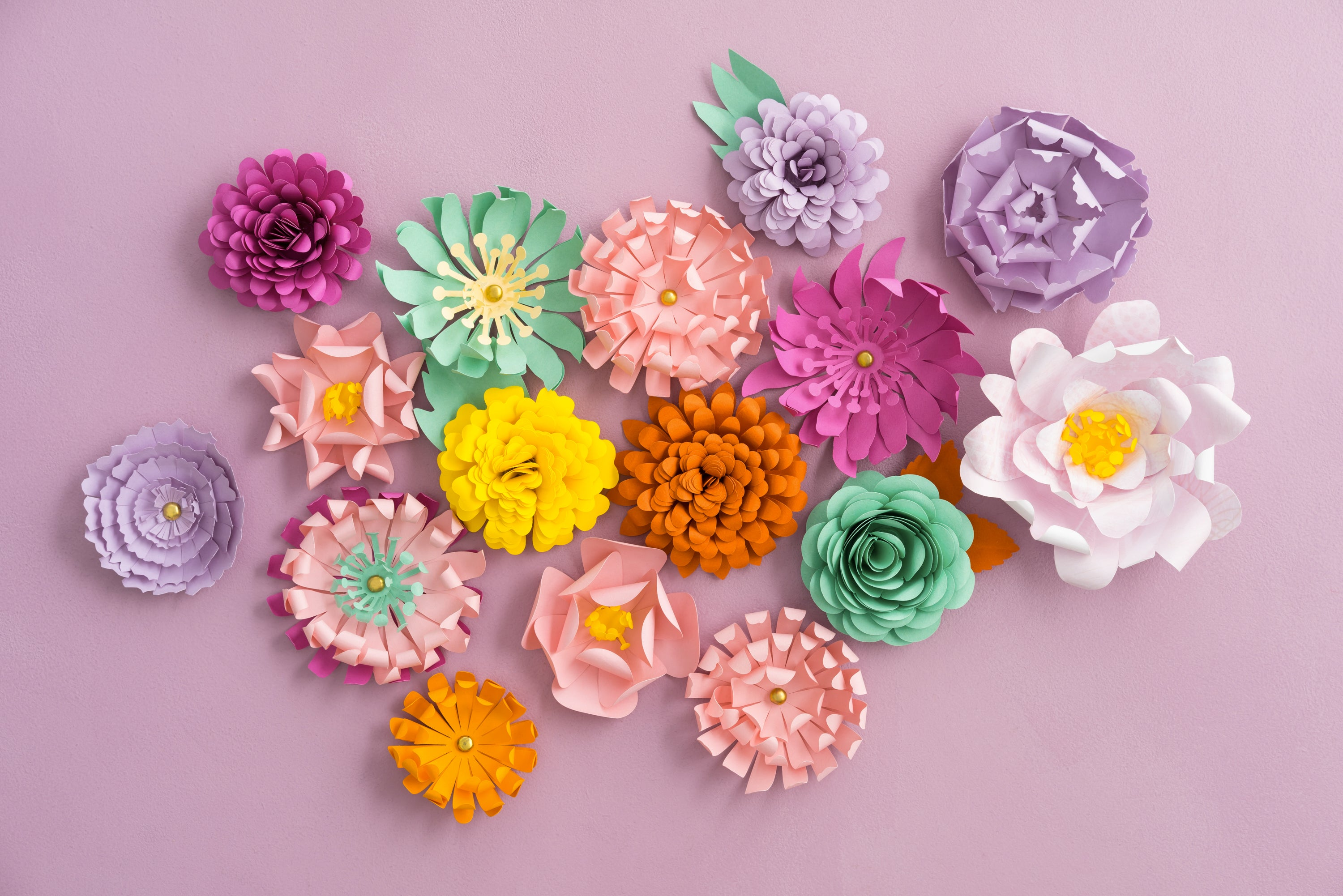 Valentine's Day Paper Flowers